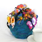 'Spring' Tea Cosy side 1 - 2017 Landsborough Tea Cosy/Beanie competition -Winner